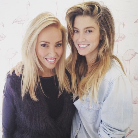 AJ and one of her best clients - delta goodrem