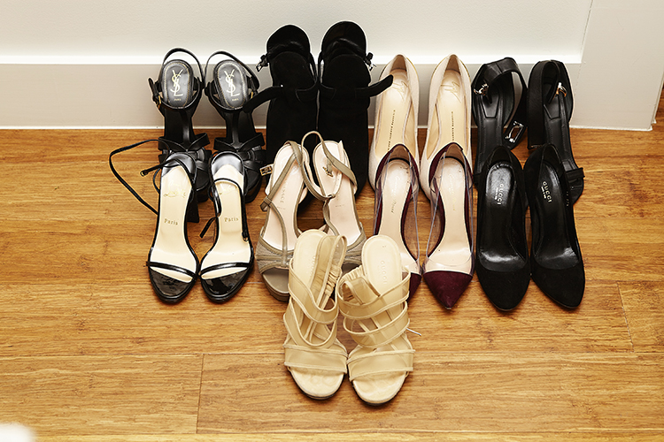 A collection of glamorous heels
