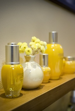 The spa's signature yellow hues