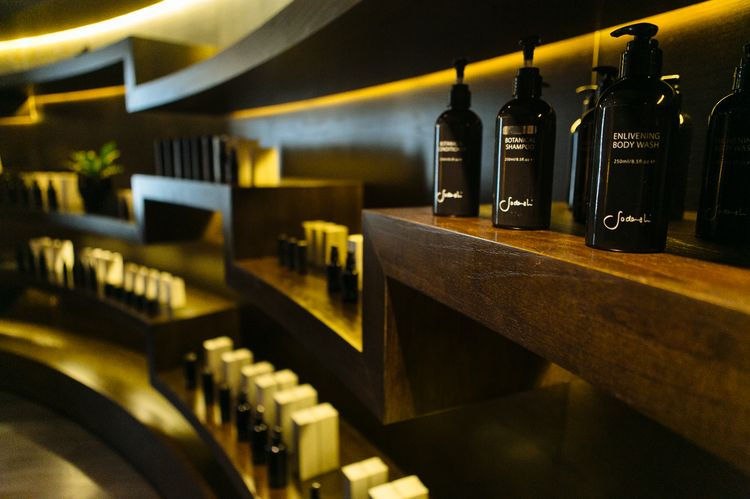 Sodashi skincare lines the shelves
