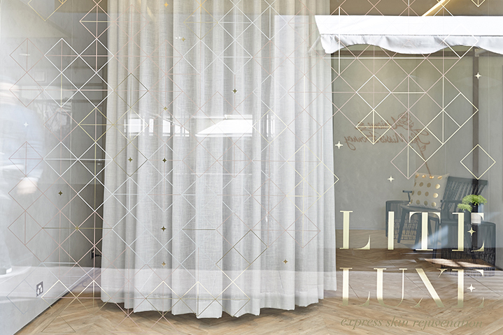 Linen curtains keep your experience shielded from the street