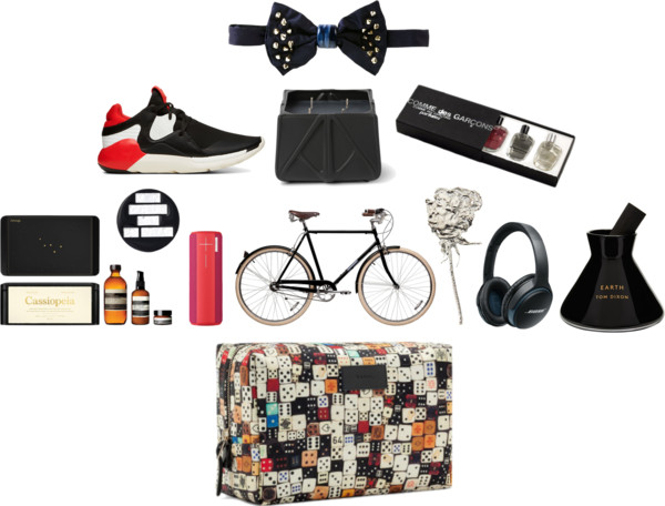 Cor Sine Labe Doli Embellished Bow Tie, Y-3 Boost QR Leather and Neoprene Sneakers, Zaha Hadid Design Prime Opulent Candle, Comme des Garçons Pocket Collection, Aesop Cassiopeia Parsley Seed Skincare Kit, Saint Laurent Eighties Pin, UE Boom Wireless Bluetooth Speaker, Papillionaire Custom Vintage Bike, Lucy Folk Mens Rose Corsage Brooch, Bose Soundlink Bluetooth Headphones, Tom Dixon 'Earth' Charcoal Stick Diffuser, David Jones Games Washbag