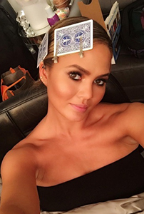 Model and mum-to-be @chrissyteigen looking strobed to perfection