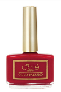 olivia palermo x ciate london nail polish in 'hutch my go-to red'