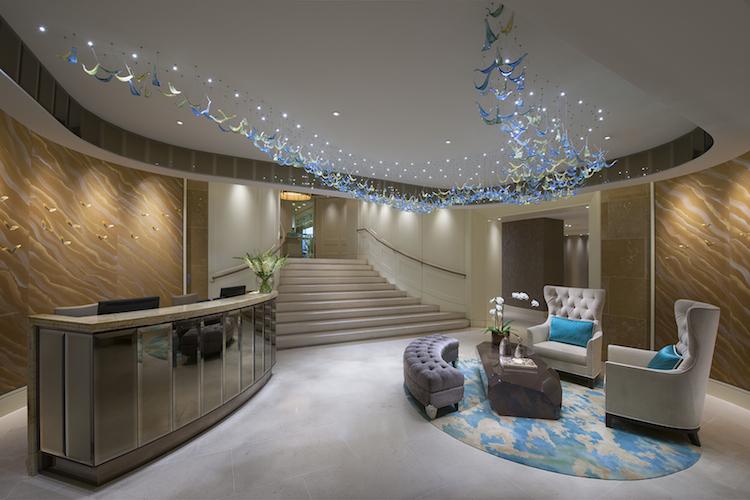 A glamorous reception area