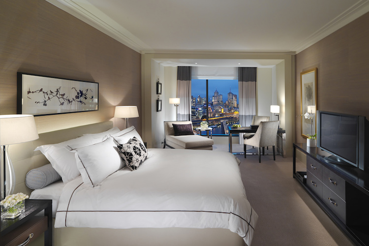 A deluxe room at The Crown Towers