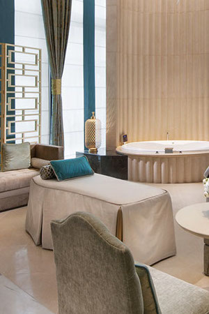 the indulgence suite boasts a private jacuzzi