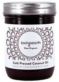 loving earth cold pressed coconut oil