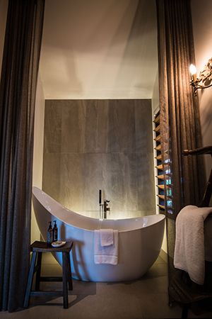the incredible bathrooms in komala suites