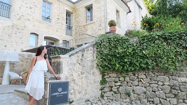 Cobblestone paths lead the way to the beautiful spa