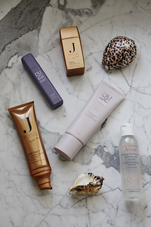 Jbronze, Avene and nude skincare essentials