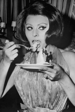 as an italian, sophia was a true lover of food culture.