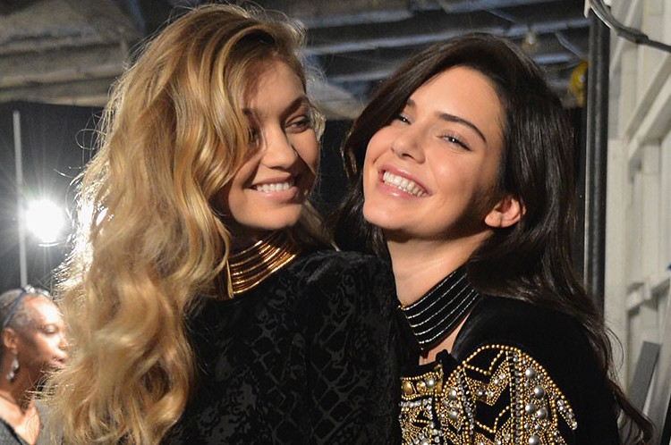 Beauticate loves this gorgeous shot of Kendall and Gigi backstage for Balmain X H&M taken by Slaven Vlasic