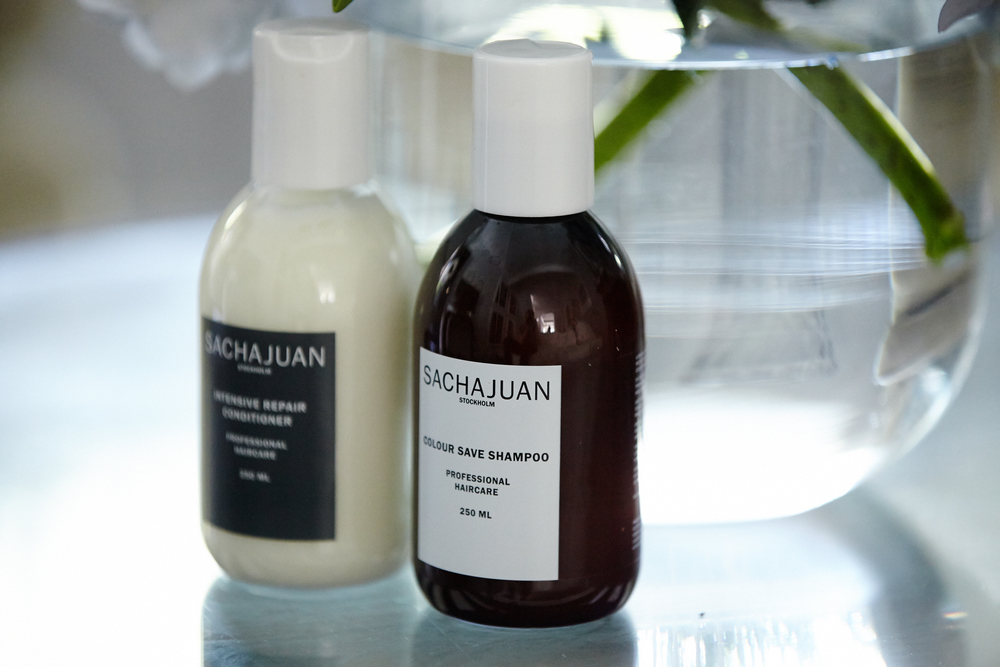 Canna keeps her flaxen locks in check with Sachajuan hair products