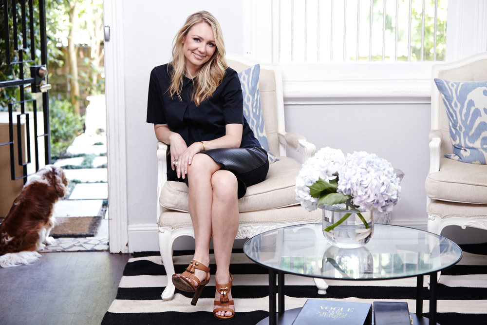 The finance whiz at home in her Paddington terrace