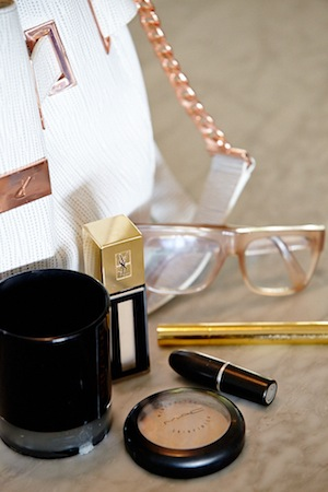 ysl and mac beauty, cool celine frames and ginger & smart candle and bag