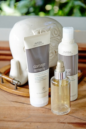 hair herald; wella sp luxe oil and aveda are bathroom staples