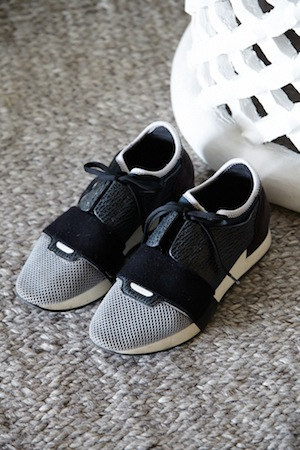 balenciaga babies; a pair of trainers she tracked down in paris and london