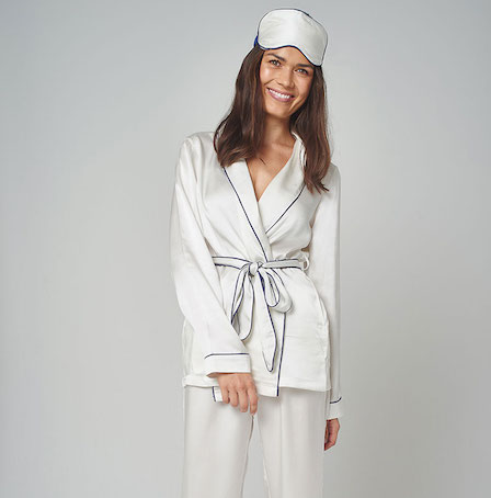 Jasmine and Will Silk Wrap Pyjama Set
