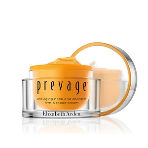 Elizabeth Arden Prevage Anti-Aging Neck and Décolleté Firm and Repair Cream, $130