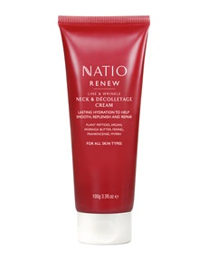 Natio Renew Line and Wrinkle, Neck and Décolletage Cream, $24.95