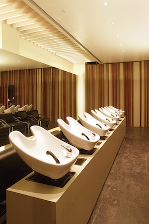 The hair washing ritual of a salon visit is a sensory delight at Luc Espace