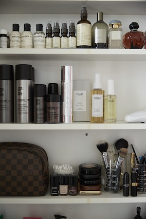 Her bathroom cabinet is filled to the  brim with natural skin-loving oils and potions