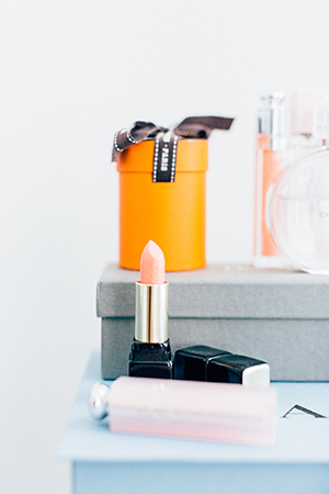 CARIN'S BEAUTY ESSENTIALS CAN BE FOUND AROUND HER APARTMENT