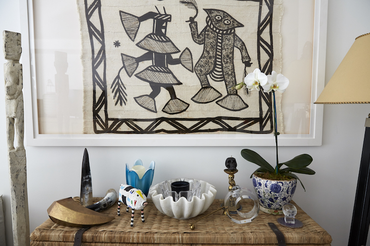 Interior wise, Pip's home is mainly tribal-inspired, with a tinge of retro and a hint of rustic