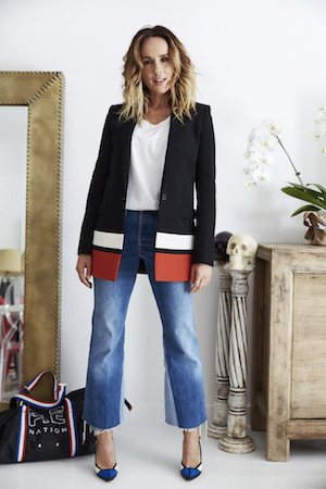 redone denim, pierre hardy pumps and vintage ellery blazer
