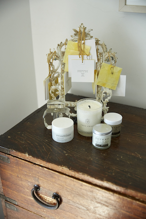 Kit keeps her minimalistic skincare regime displayed on her dresser