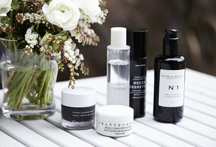 A mix of the skincare products highly loved by Sarina