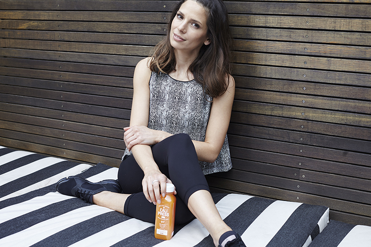 To keep herself feeling healthy and happy, Sarina is a fan of Cali Press juices