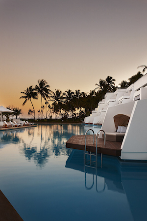 The sunset over Hayman Island