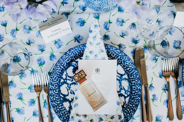 A stunning lunch setting using Tory's signature tableware