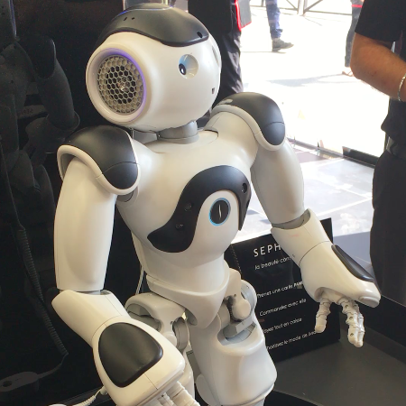 The Robot that greets customers upon entering Sephora Flash stores