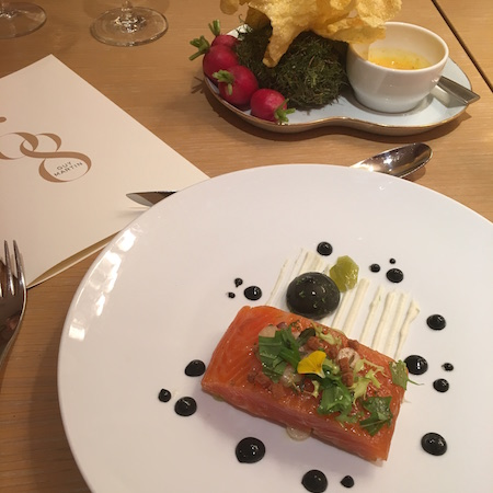 Salmon and Celeriac at Guy Martin