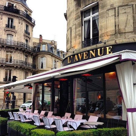 L'Avenue Restaurant on the Champs-Elysee