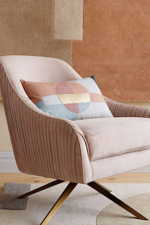 West Elm Roar & Rabbit Swivel Chair - Dusty Blush