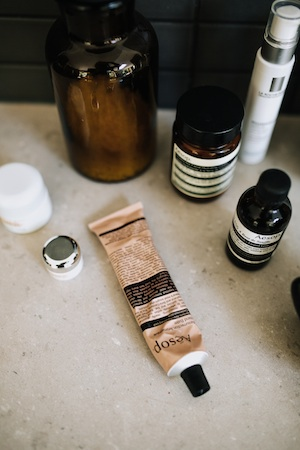 Bianca is a big beauty fan of Aesop; in small part due to the packaging, she admits.