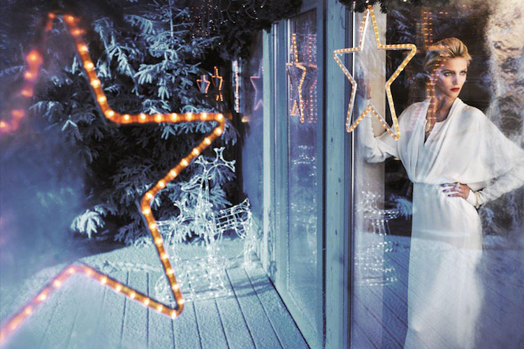 Beauticate loves this festive image of Anja Rubik by Marcin Tyszka
