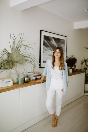 Her whole aesthetic - from style to interiors -reflects her approach to life: calm, clean and connected to nature.