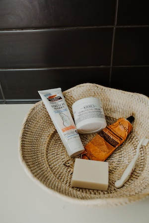 Palmer's and Kiehl's are Karla's go-to beauty brands.
