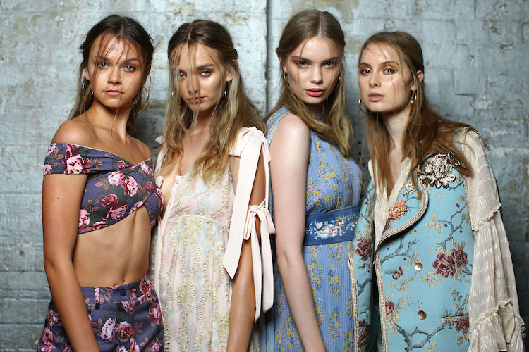 We love this model lineup backstage We Are Kindred captured by Getty Images.