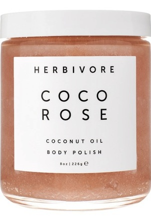 herbivore botanicals coco rose coconut oil body scrub