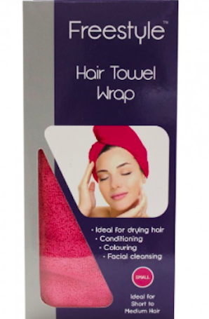 FREESTYLE Hair Towel Wrap Pink