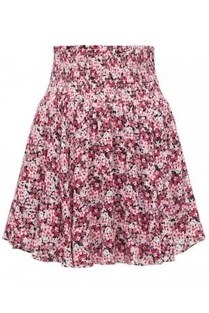 Maya Petite Shirred Waist Tiered Mini Skirt