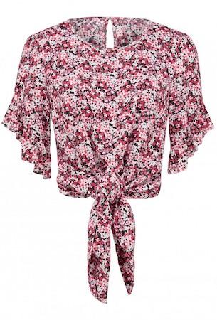 Karina Petite Tie Front Crop Top