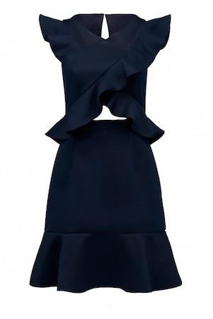 Cody Ruffle Cross Front Dress