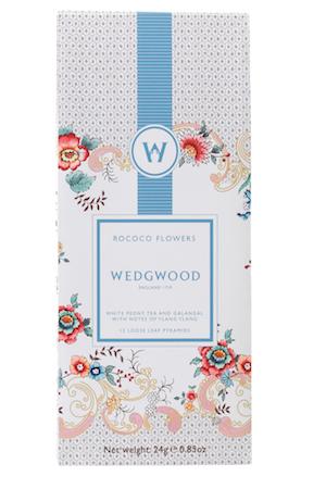 WEDGWOOD WONDERLUST ROCOCO FLOWERS WHITE BLEND TEA